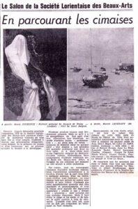 200 œuvres de 50 artistes - ... visiteurs Hommage rendu à Emile LE NEUTHIEC et Albert PRODHOMME, présidents d'honneur décédés en 1972